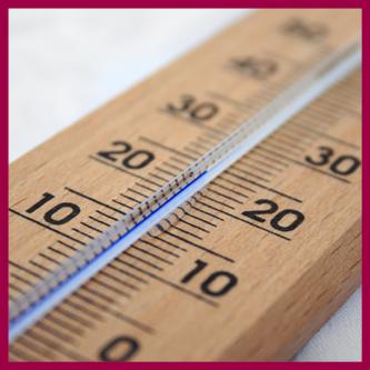 Pocenie Stóp zalezne jest od temperatu pokazanej przez termometr