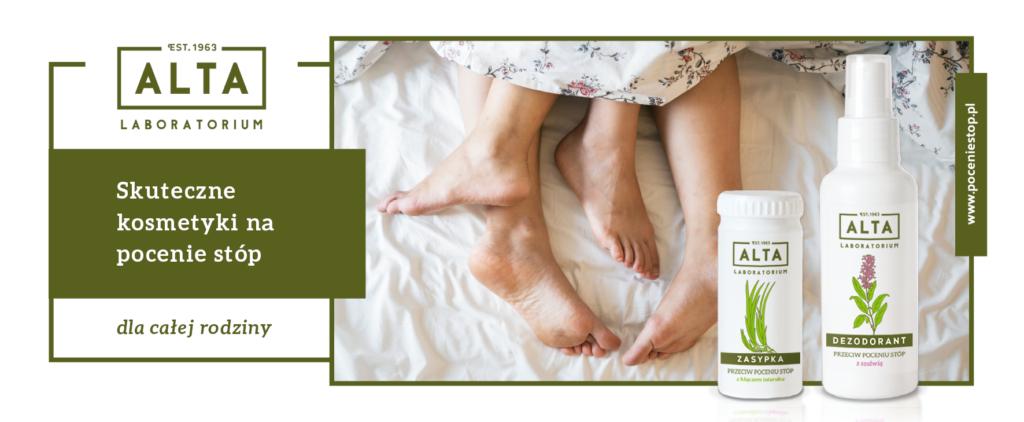 Laboratorium ALTA to polskie, skuteczne kosmetyki na pocenie stóp dla całej rodziny.